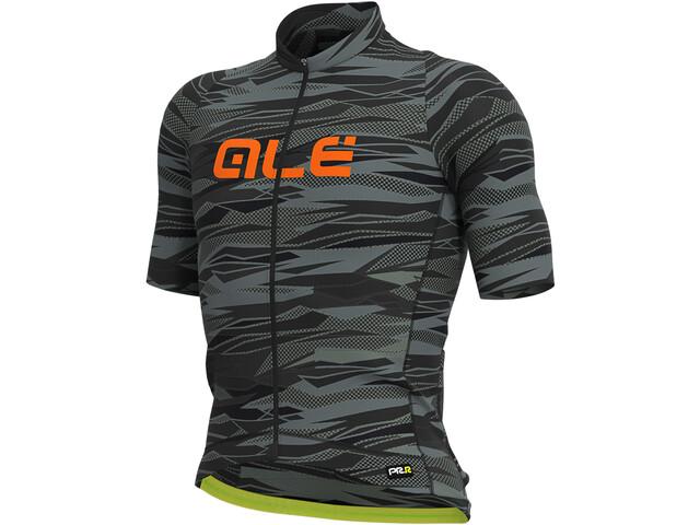Alé Cycling Graphics PRR Rock Maillot Manches courtes Homme, black/fluo orange